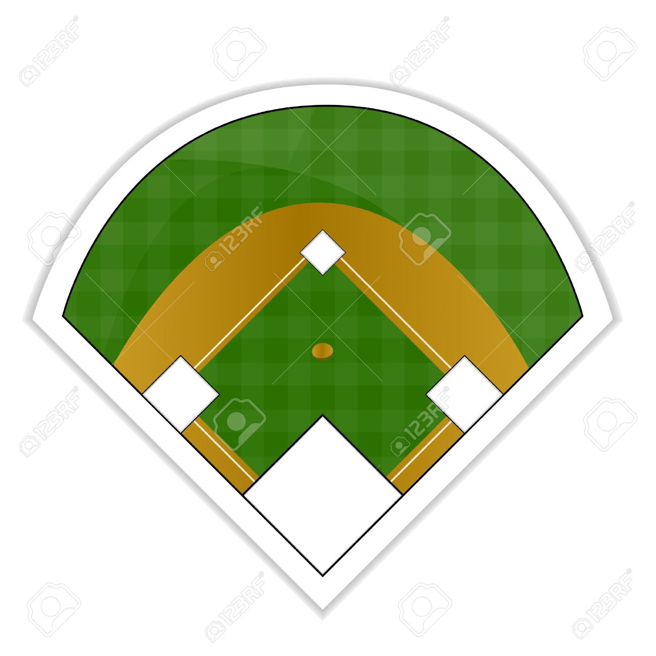 baseball field sticker royalty free cliparts vectors and stock rh 123rf com baseball diamond vector free