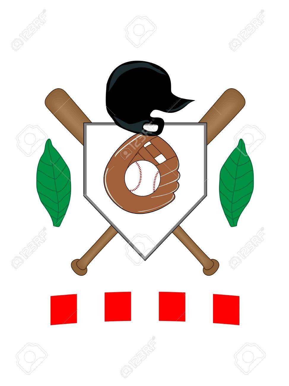Baseball Coat of Arms Stock Vector - 11053005