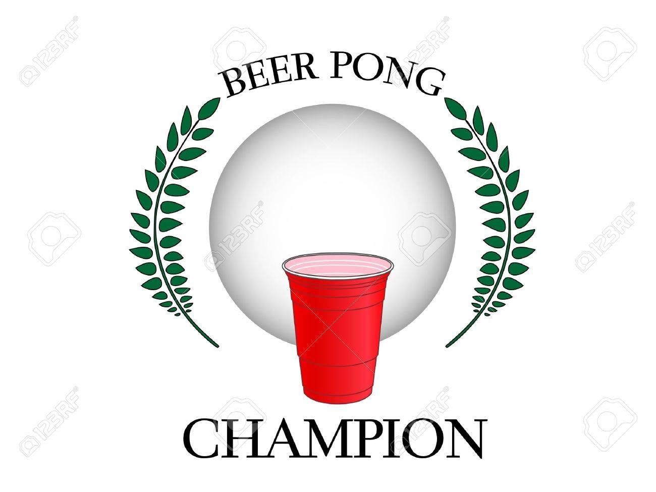 Beer Pong Champion Stock Vector - 11429932