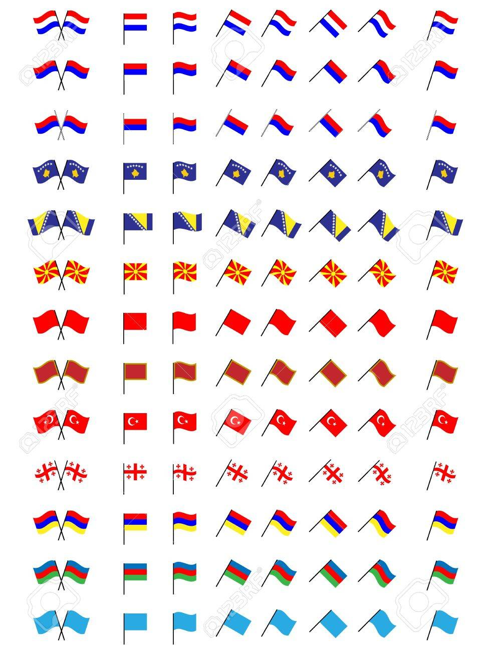Flags of Europe 3  No Coats of Arms Stock Vector - 15388241