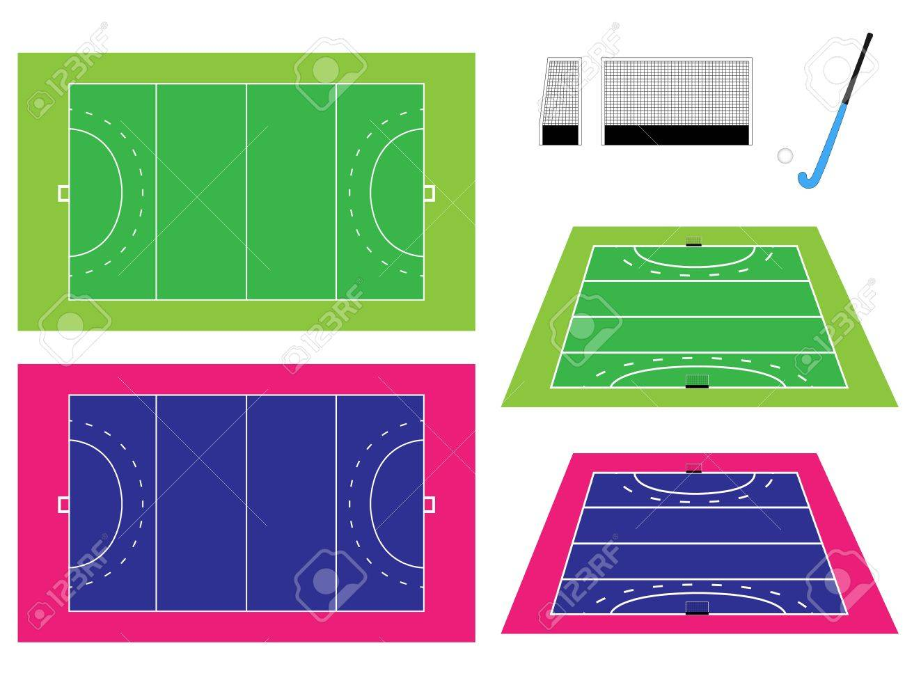 Hockey Field with Perspective Stock Vector - 15401212