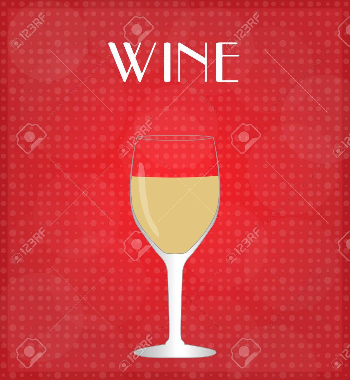 Getränke Liste Weißwein Mit Rotem Hintergrund Lizenzfrei Nutzbare ...