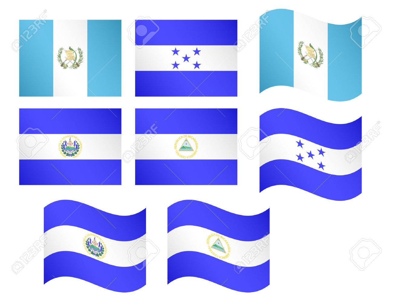 central america flags 1 eps 10 royalty free cliparts vectors and