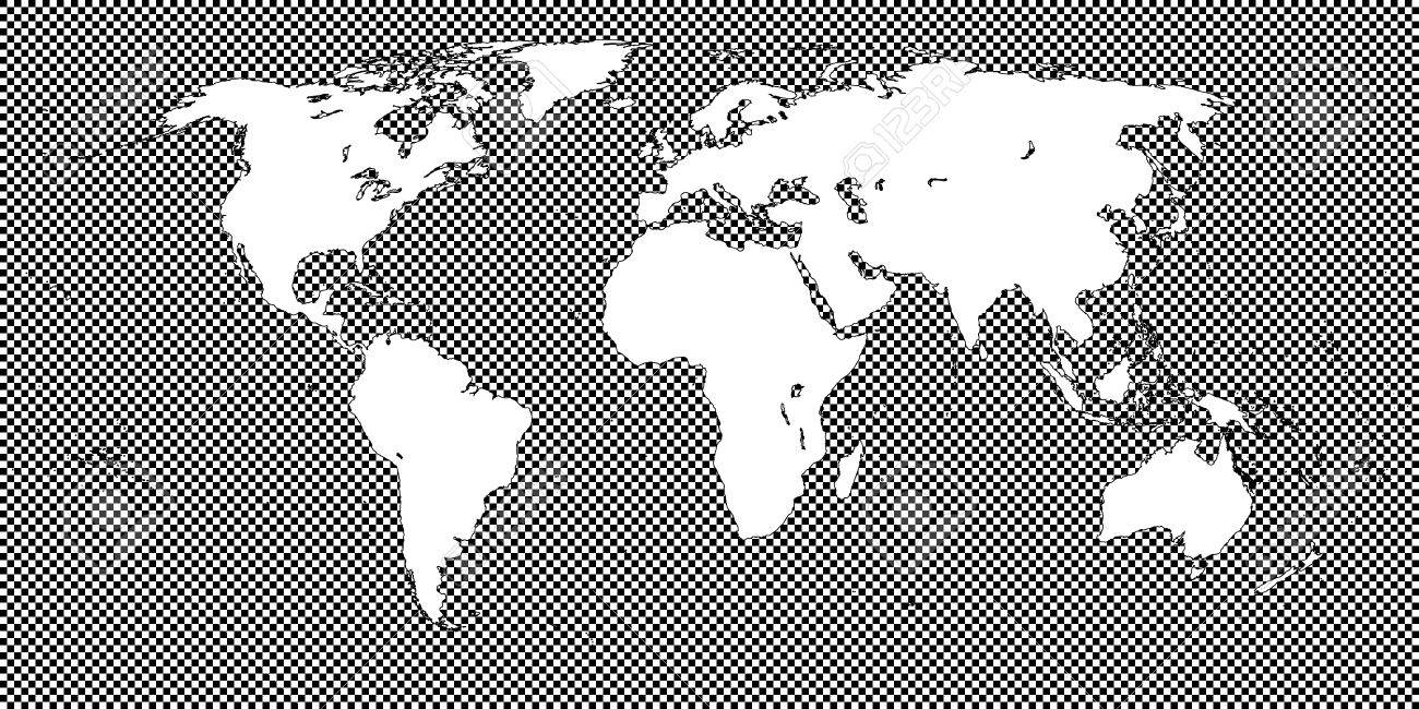World map checkered black 2 medium squares royalty free cliparts world map checkered black 2 medium squares stock vector 50557564 gumiabroncs Image collections