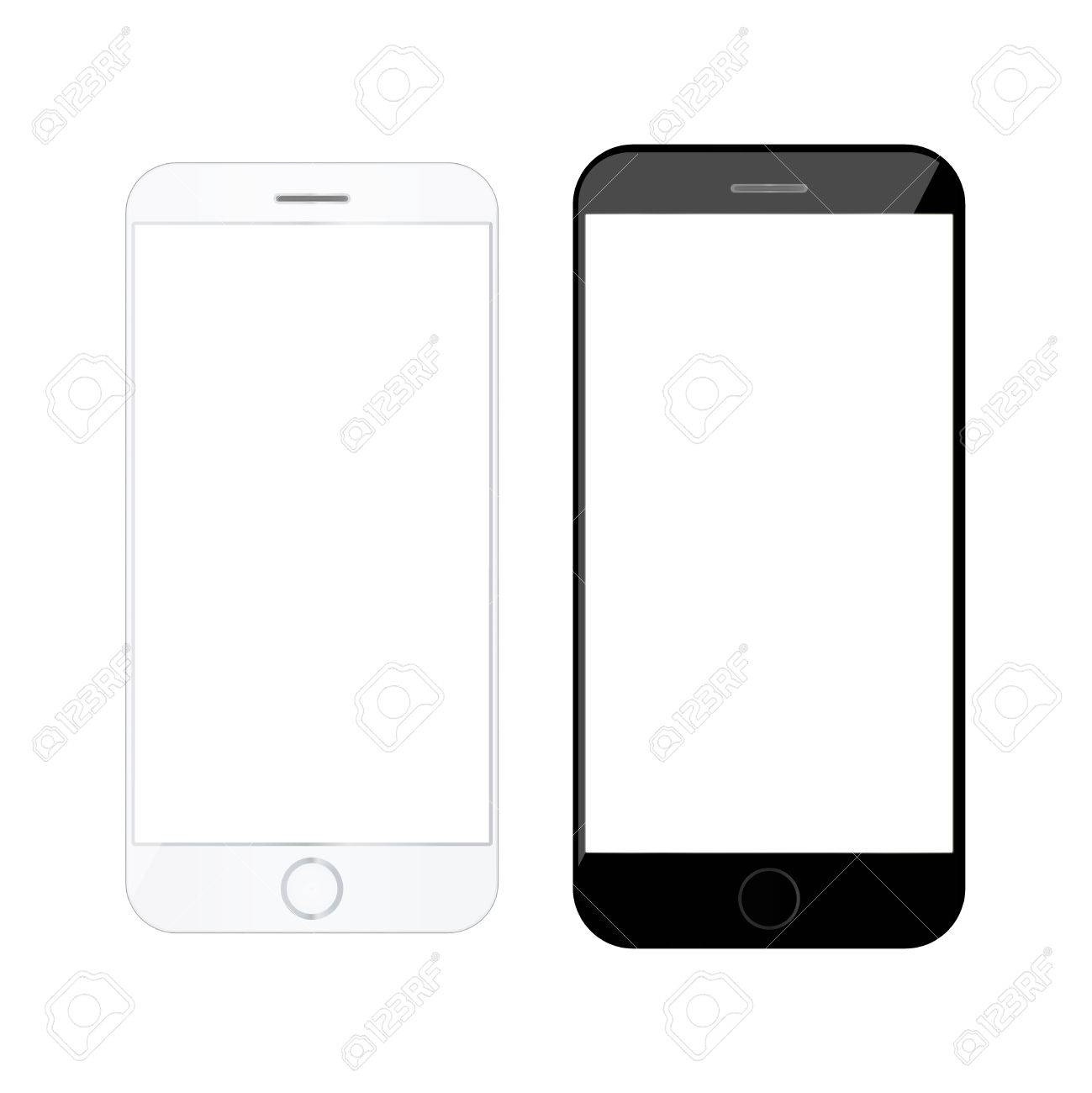 c5edfed99aa6be Realistic smartphone Modern mobile phone Blank cellphone Telephone mockup  Mobile phone template Stock Vector - 75490621