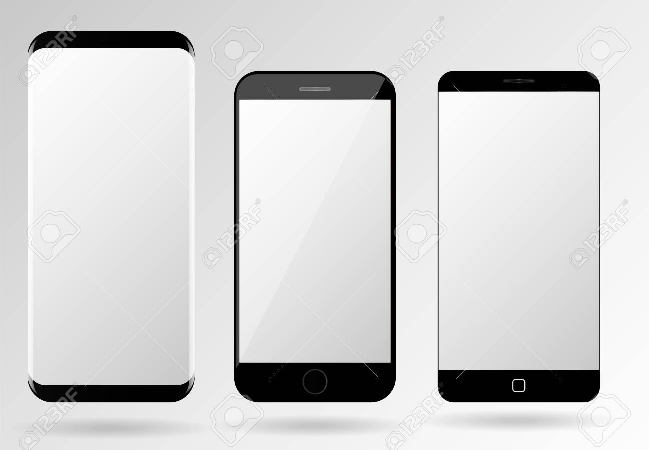 smartphone mockup blank mobile phone template frameless cellphone
