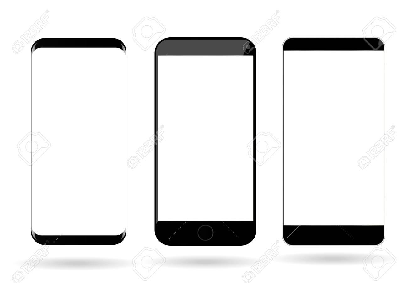 blank mobile phones screen mockup vector smartphone template
