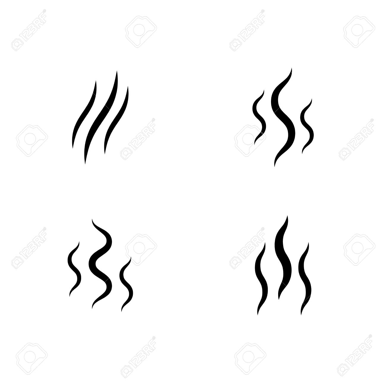 smoke stream vector aroma icon smell set vapor lines royalty free rh 123rf com vector smoker grill vector smoke hollow grill at camping world