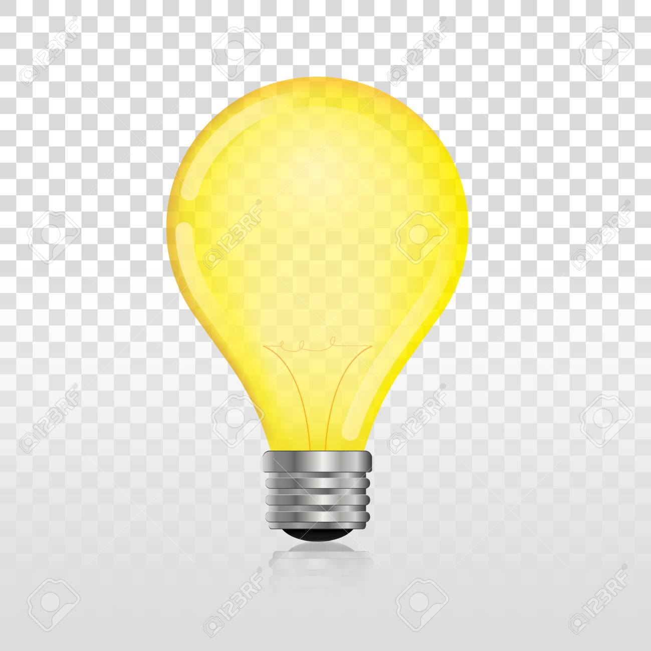 Glowing Off Electric Light Bulb Realistic Transparent Lightbulb Stock  Vector   84636332