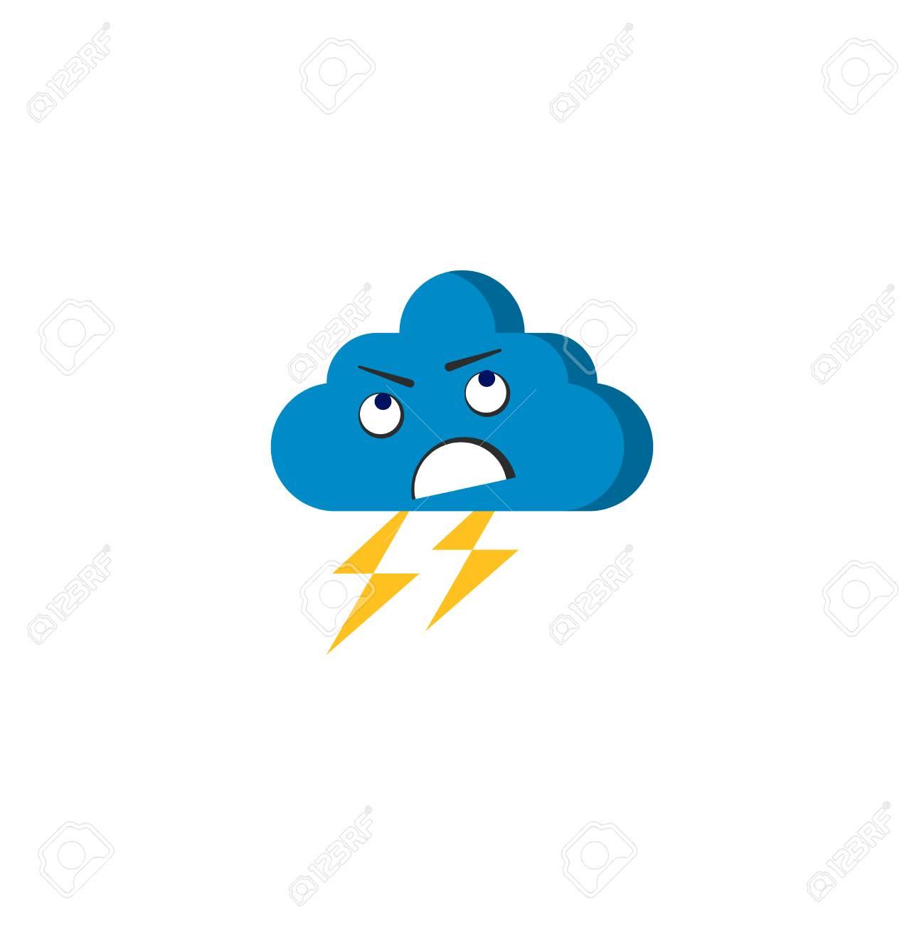 怒りの嵐雲ベクトル怒り漫画文字雲ベクトル イラストのイラスト素材