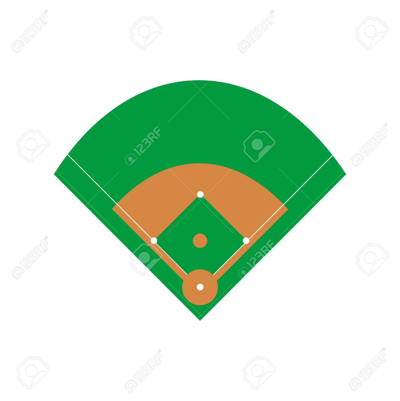 baseball field vector american game base template royalty free