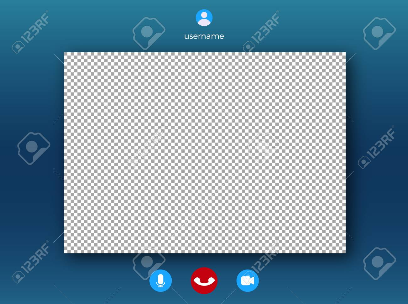 Video call screen template   Online video speech with frame for