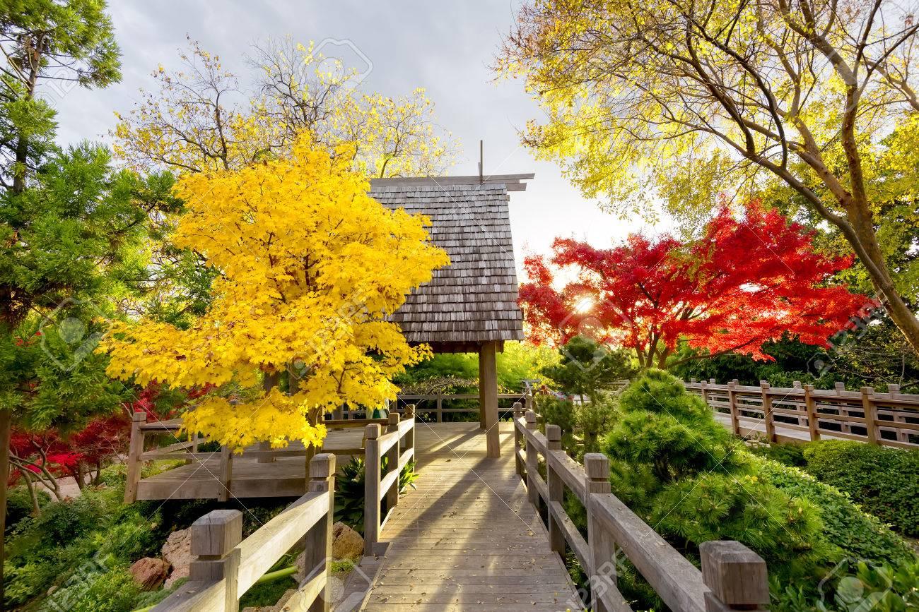 lnea del techo shinto destacando la cubierta pabelln en los jardines japoneses de fort worth durante