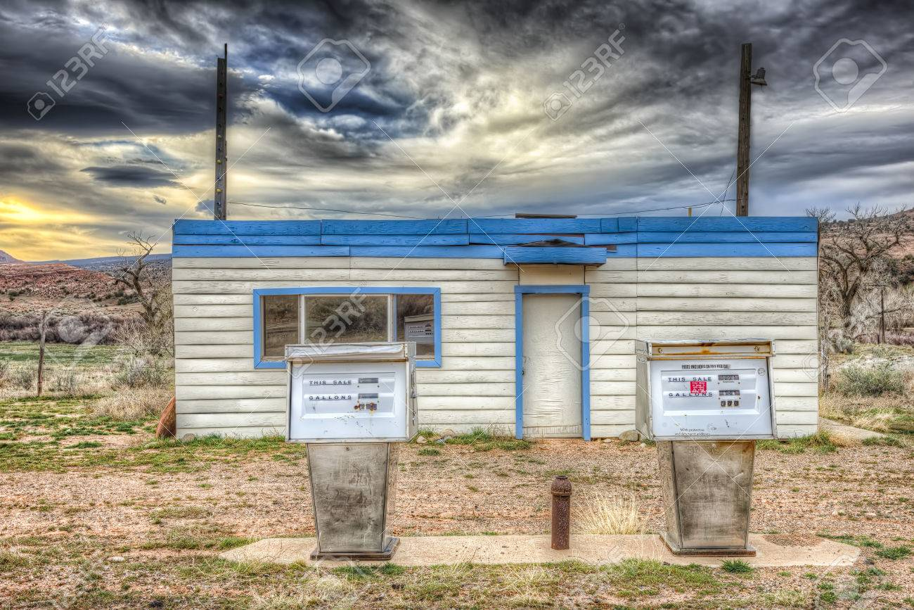Abandoned Gas Station Near The Ghost Town Of Cisco Utah Stock Photo Picture And Royalty Free Image Image 27014075