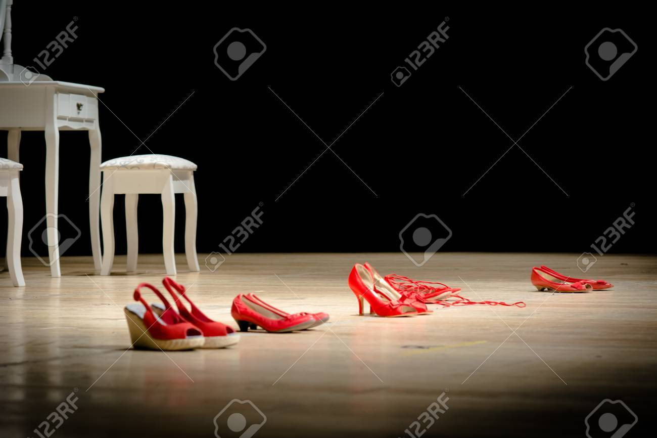 Red shoes on a stage the symbol of violence against women stock red shoes on a stage the symbol of violence against women stock photo 65208689 buycottarizona Choice Image