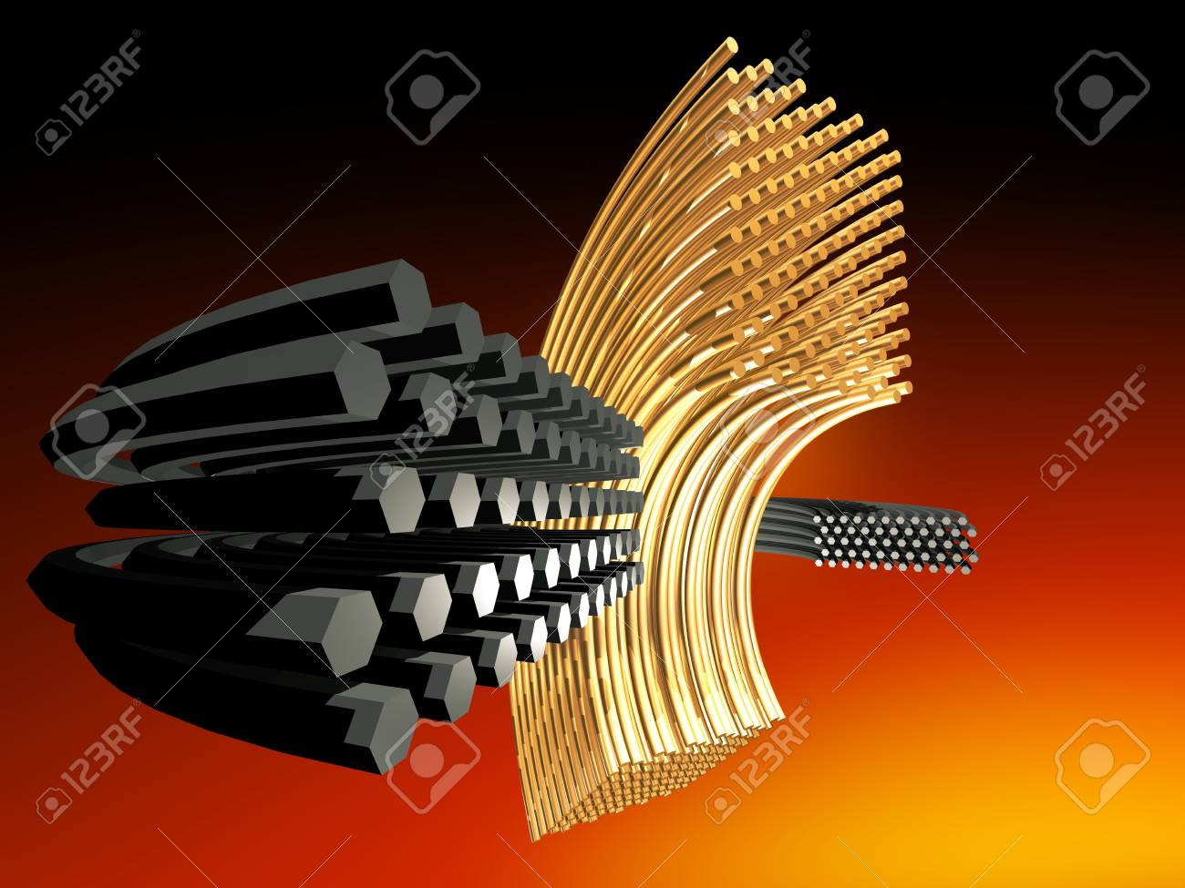 Abstract metal rods Stock Photo - 21150593