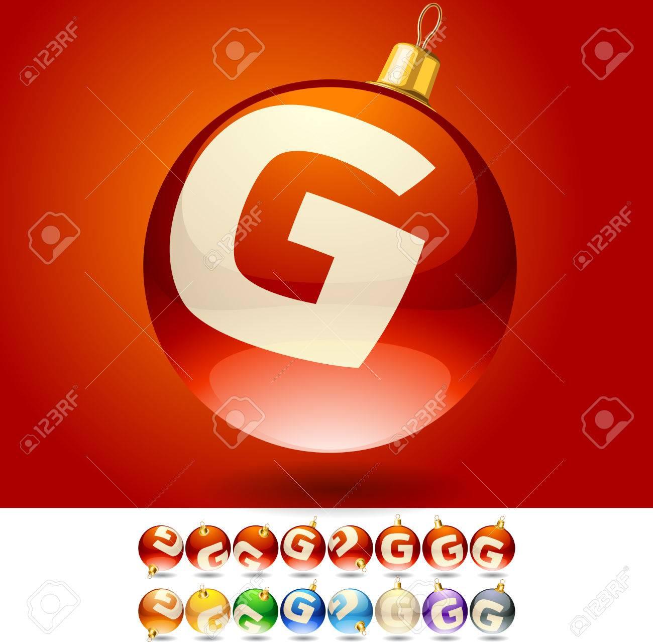 Ultimate Set Of Alphabet Font Symbols On Christmas Balls Letter