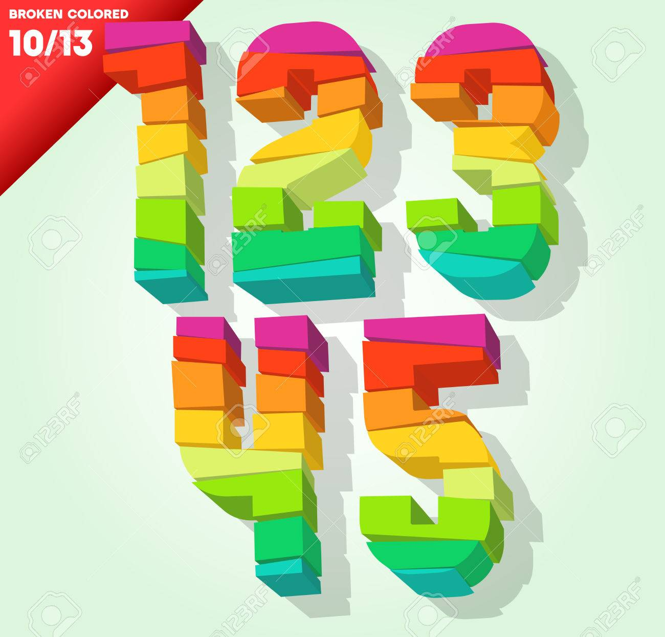Broken colorful alphabet vector illustration symbols 1 2 3 4 broken colorful alphabet vector illustration symbols 1 2 3 4 5 stock vector 24242657 biocorpaavc Images