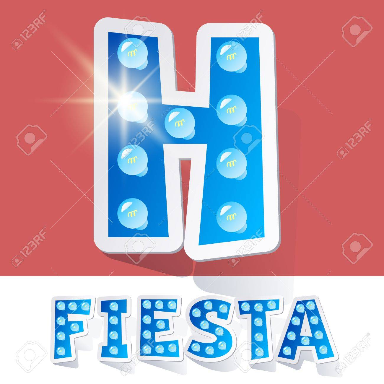 funny lamp cartoon alphabet for party holiday and celebration