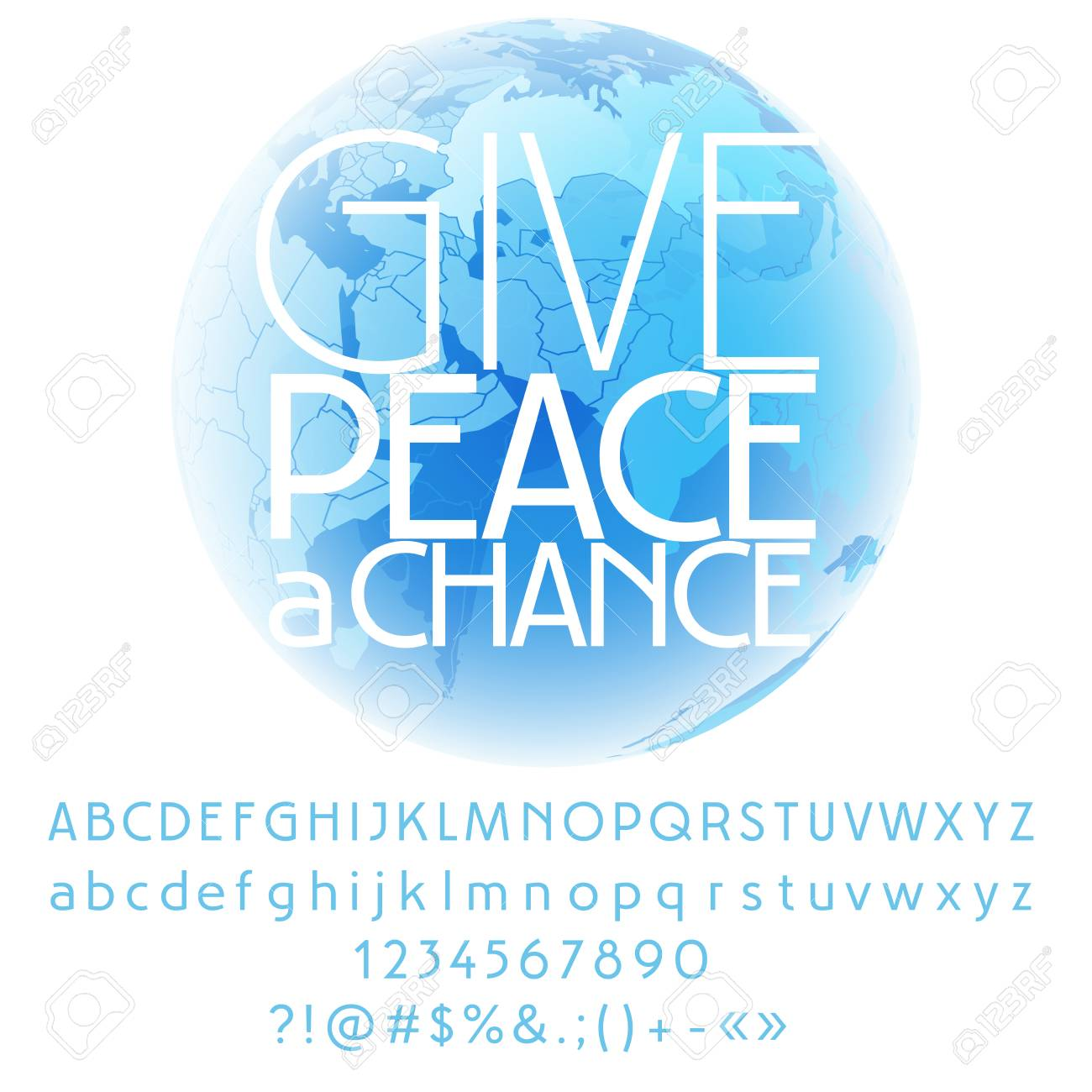 Vector card with set of letters numbers symbols give peace vector card with set of letters numbers symbols give peace a chance stock biocorpaavc Images
