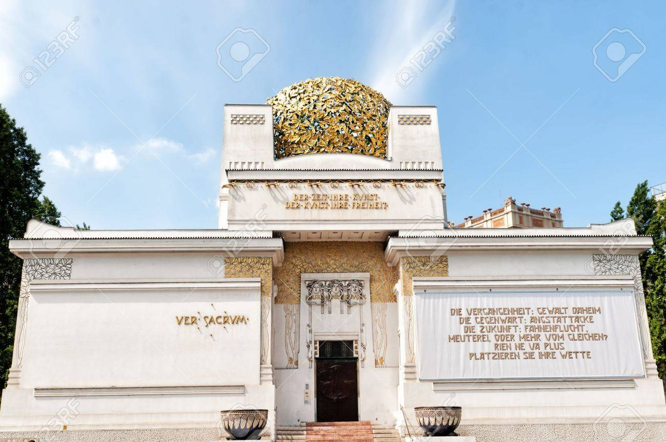 The Building Features The Beethoven Frieze By Gustav Klimt One ...