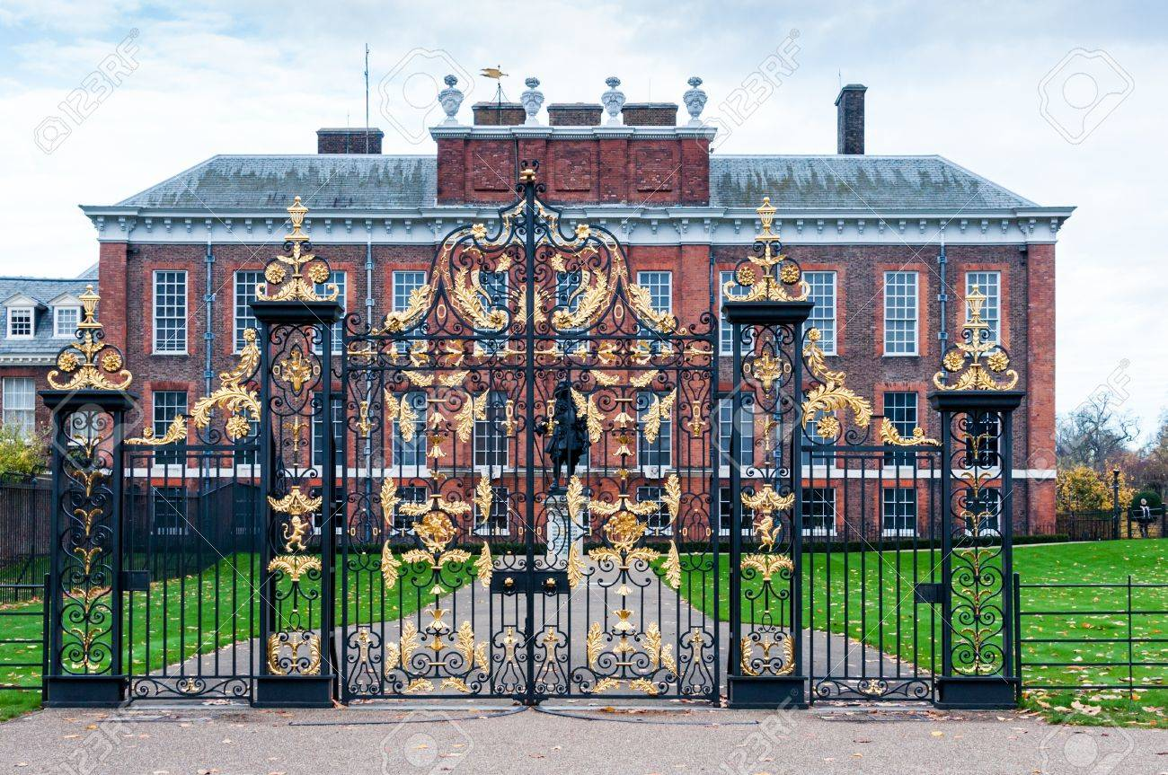 An Exterior View Of Kensington Palace In London. The Palace Has Been A  British Royal