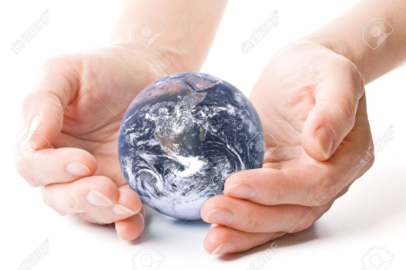 NASA globe in hands. Concept for environment conservation. Stock Photo - 3407098