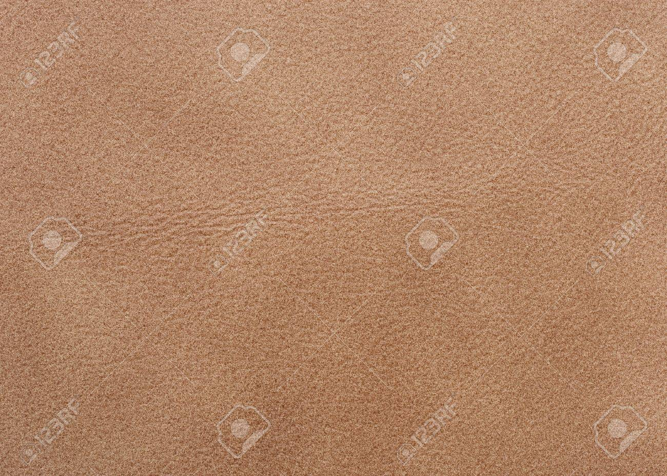 Natural qualitative beige leather texture. Close up. Stock Photo - 4345602