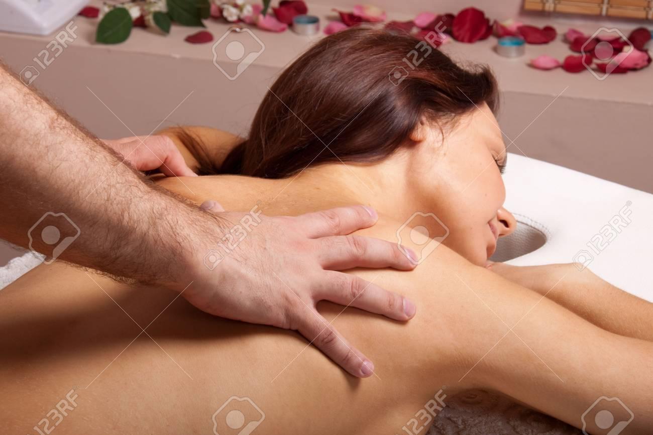Young beautiful woman on massage procedure in salon Stock Photo - 6661943