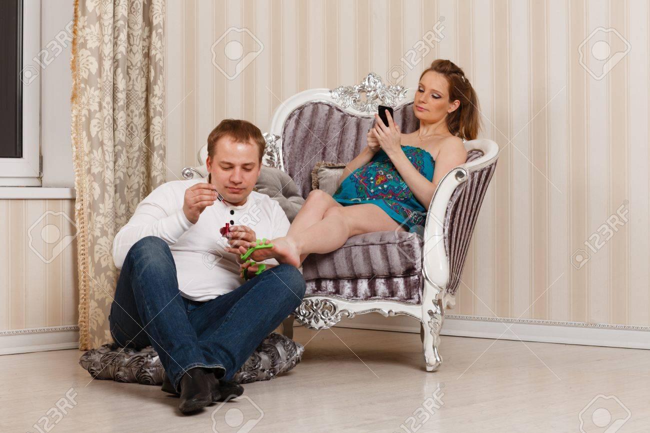 Жена с мужем дома фото 121-591