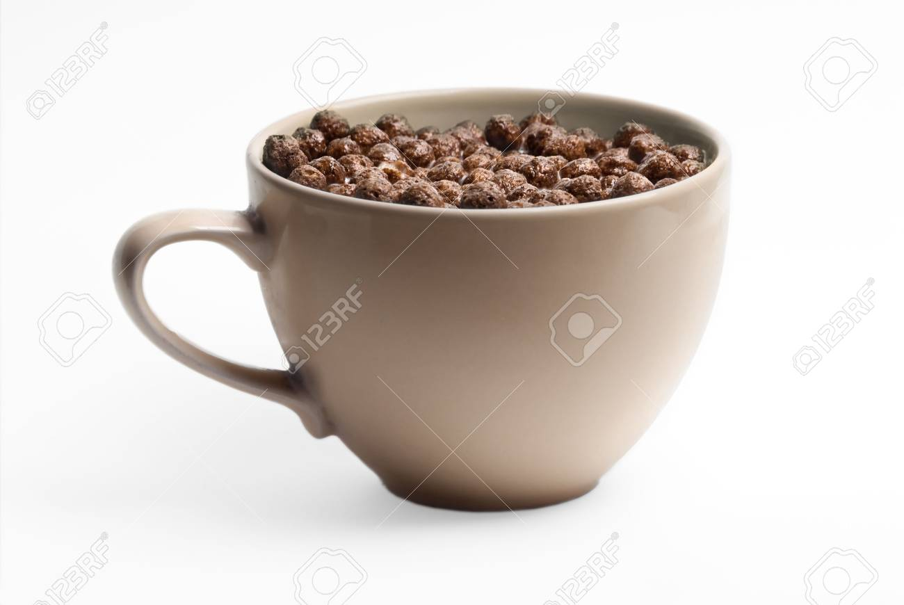 A bowl of chocolate flakes with milk. Very healthy. Stock Photo - 2852878