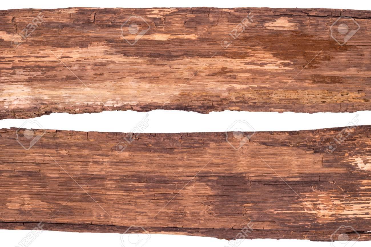 Hedendaags Oude Planken Geïsoleerd Op Wit. Bovenaanzicht. Royalty-Vrije Foto TA-19