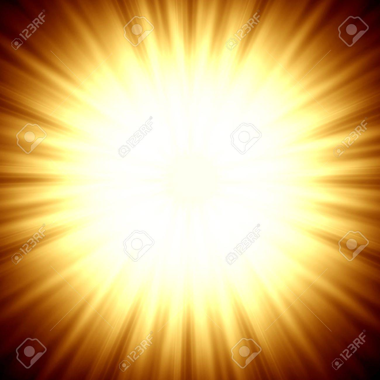 A star burst or lens flare over a black background  It also looks like an abstract illustration of the sun Stock Illustration - 12891529