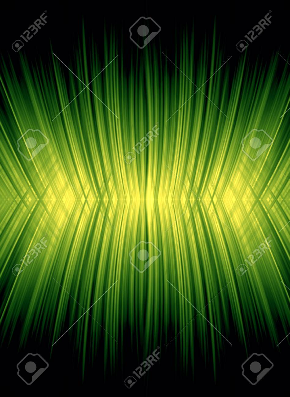 yellow   green background, rays effect Stock Photo - 12891532