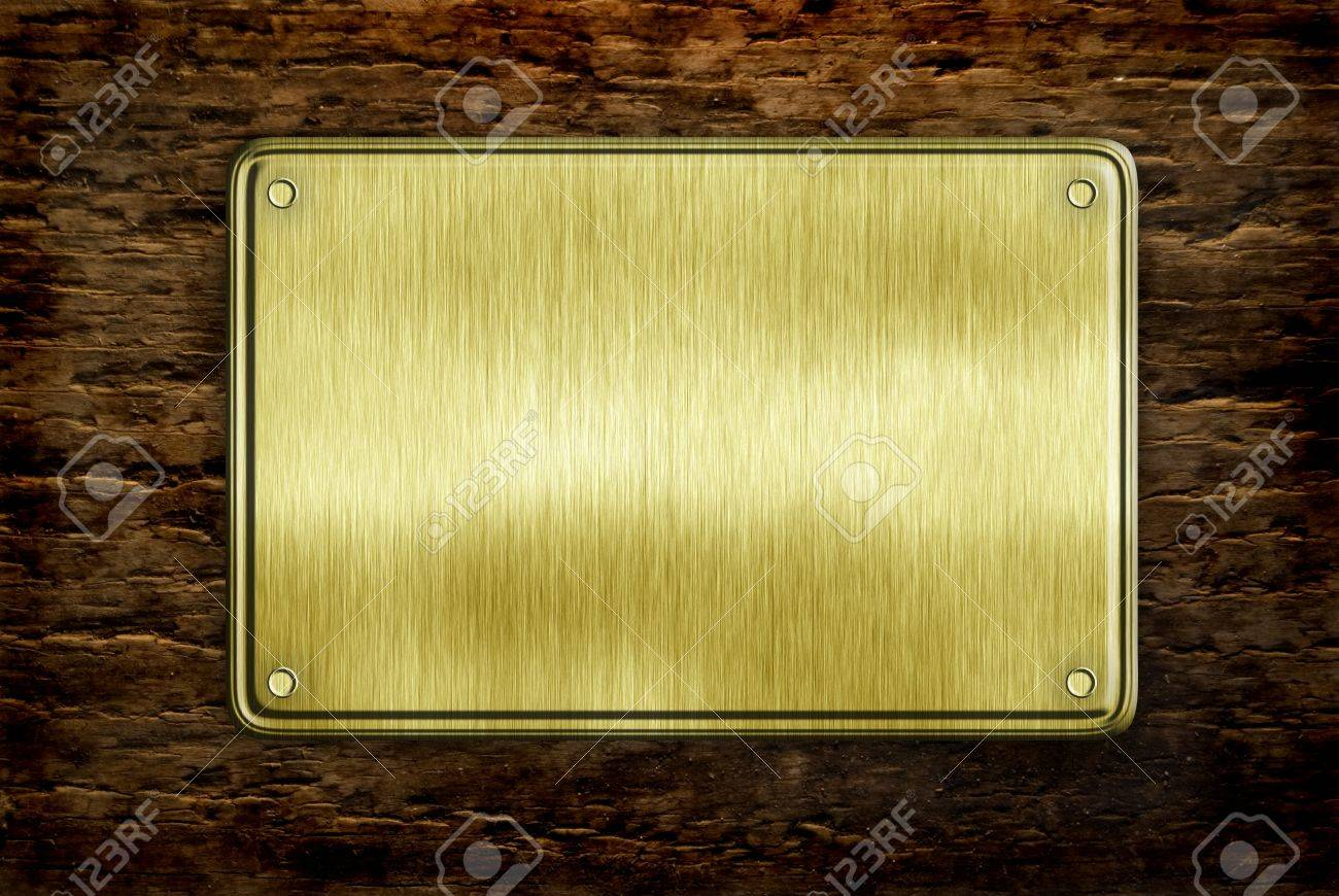 De Metal Sobre Fondo Signo Tablón De Madera Fotos, Retratos ...