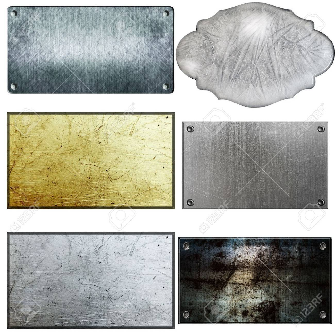 old metal sign collections isolated on white Stock Photo - 12990103