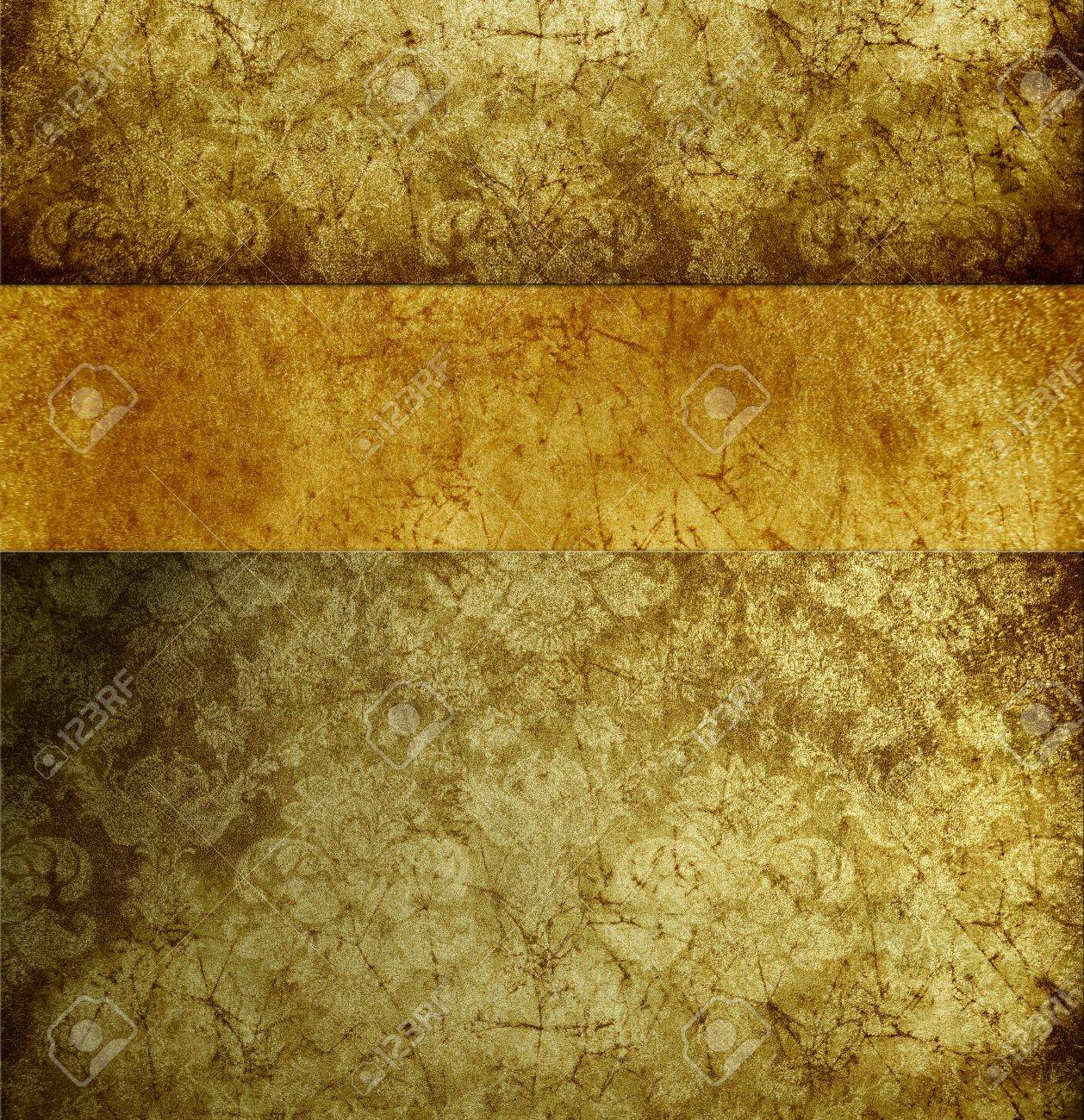 absract retro gold flourish classical template Stock Photo - 12951360