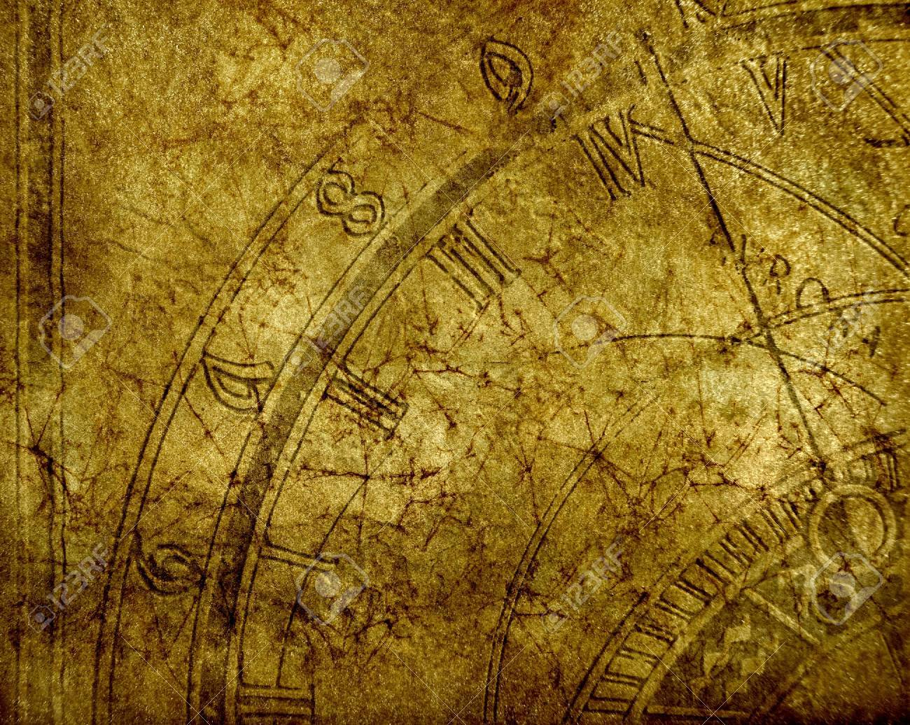 Abstract background with antique clock and copyspace Stock Photo - 13009991
