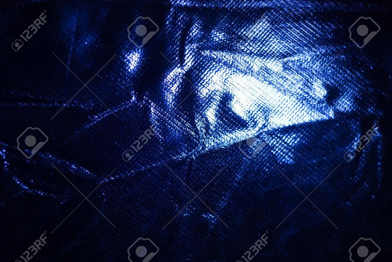 dark blue crumpled fabric of closeup Stock Photo - 13053564