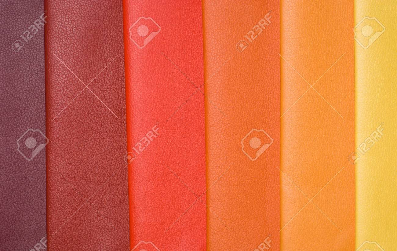 Decorative And Fashion Leather Skin Color Chart Stock Photo Picture