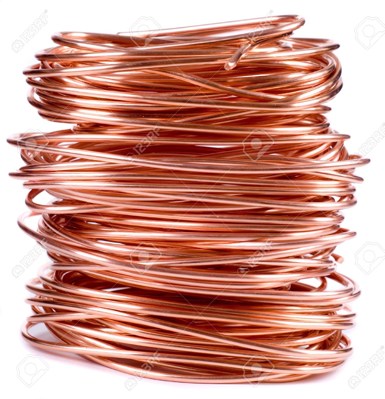 copper wire isolated on white Stock Photo - 13094951
