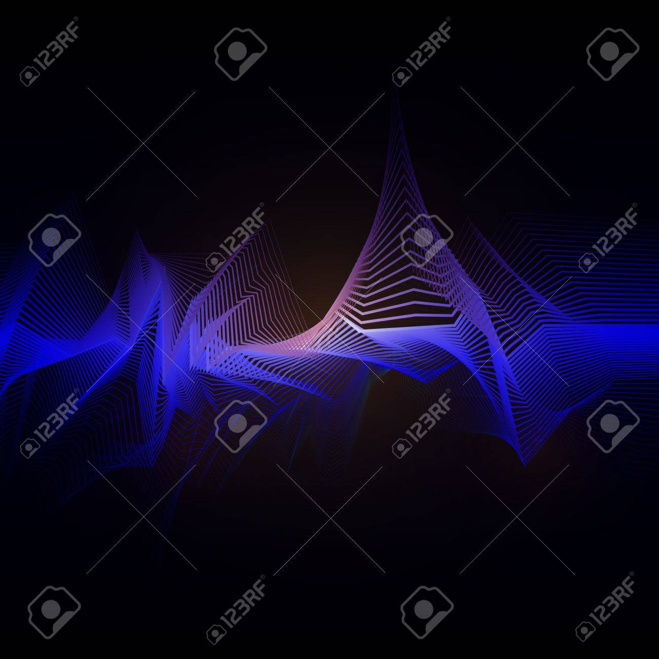 wire waves Stock Vector - 13640574