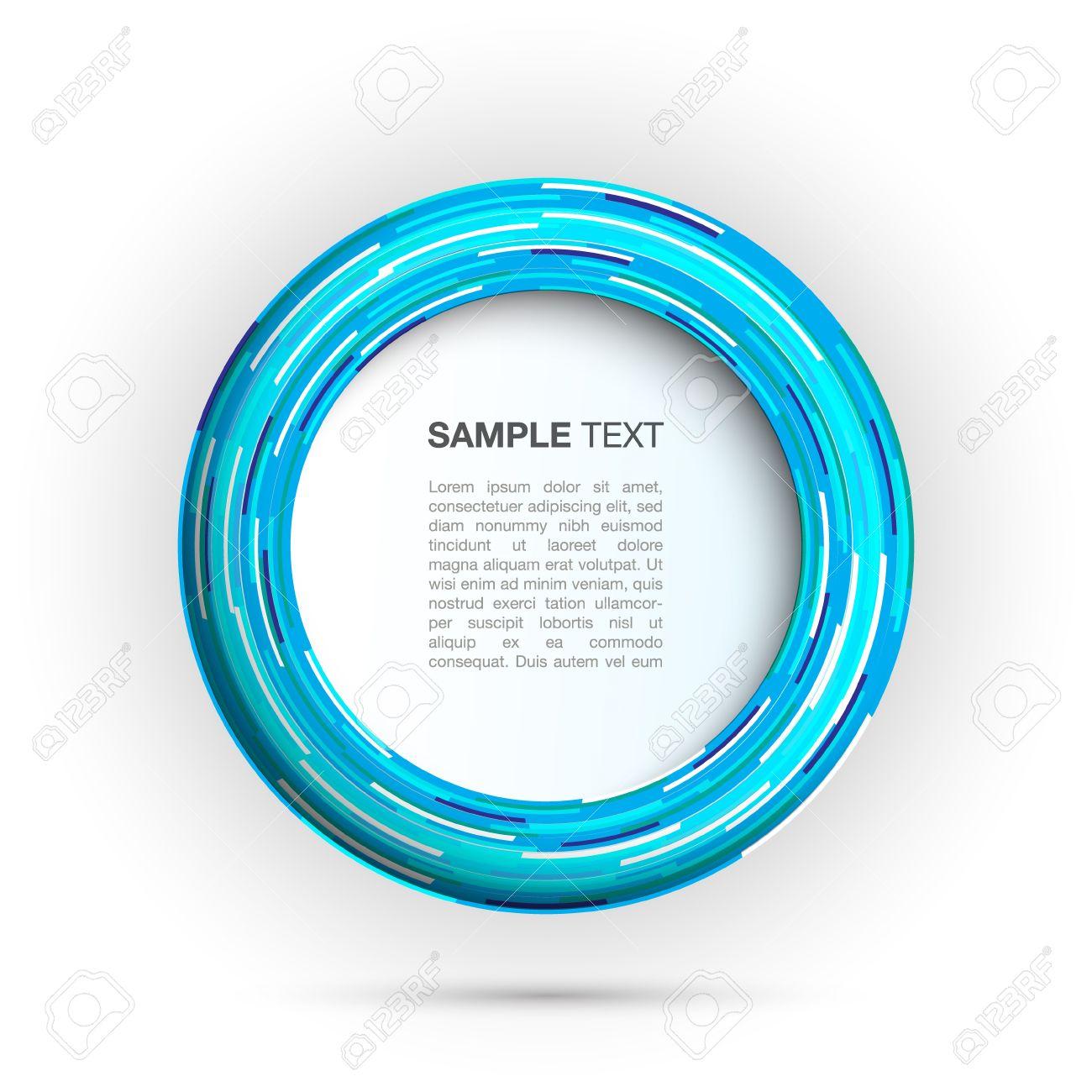 Blue round frame design Stock Vector - 13698345
