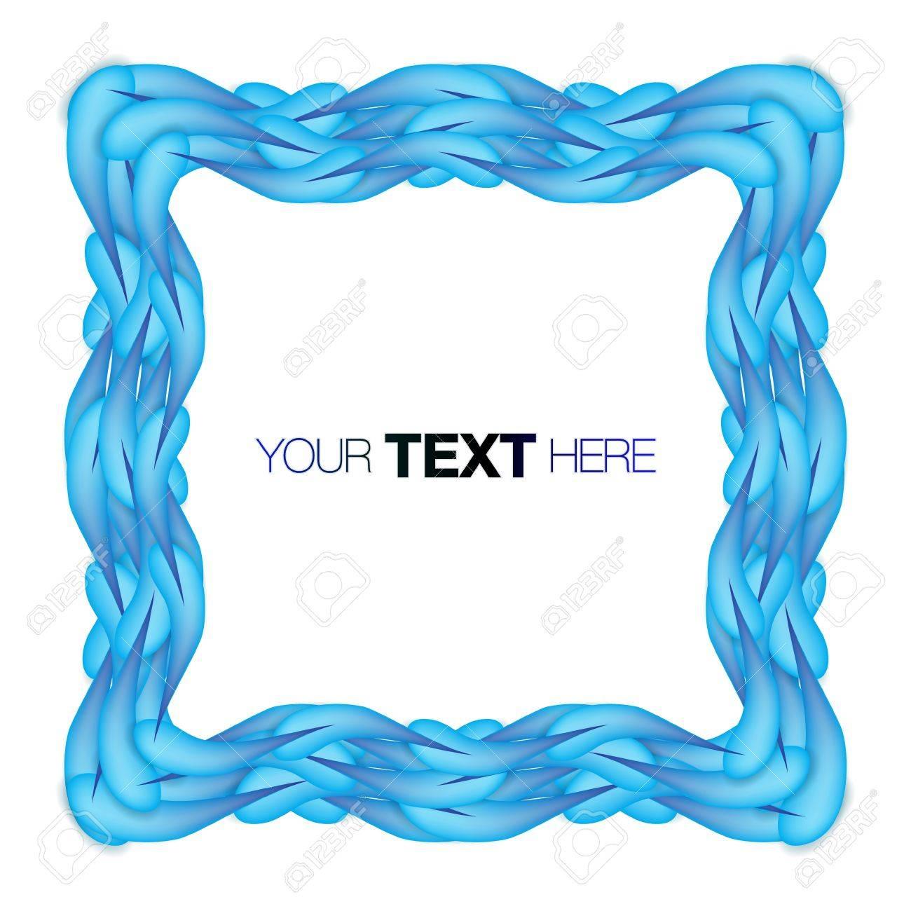 Blue frame Stock Vector - 13841581