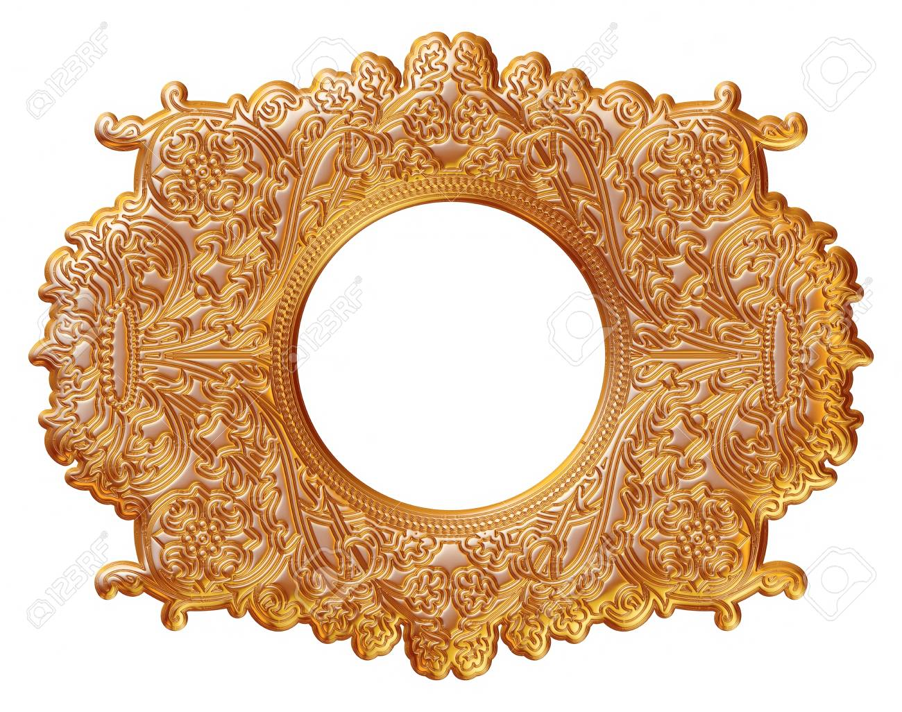 Gold Picture And Mirror Frame Isolated Over White Background Stock Photo Picture And Royalty Free Image Image 38417518