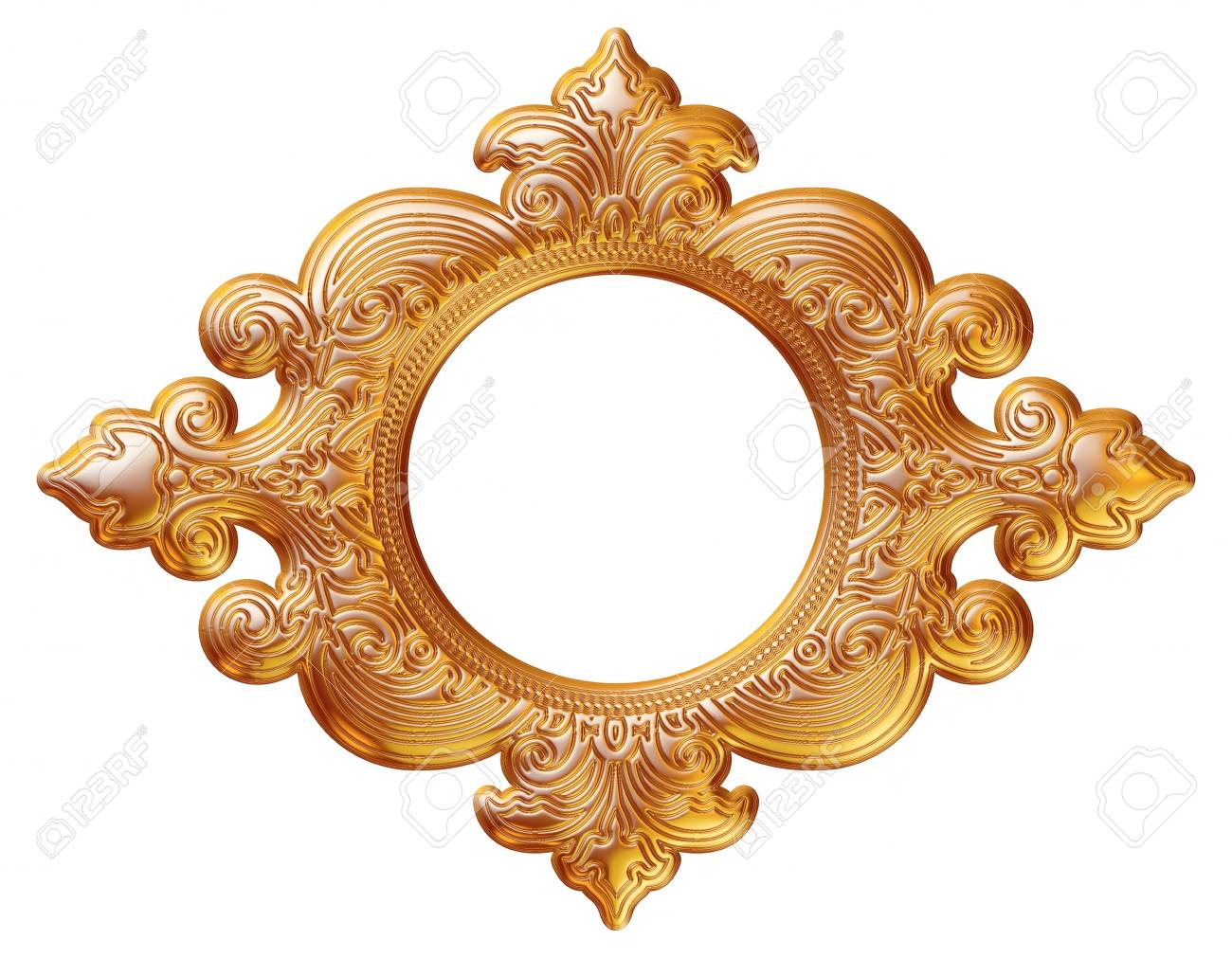 Gold Picture And Mirror Frame Isolated Over White Background Stock Photo Picture And Royalty Free Image Image 38417729