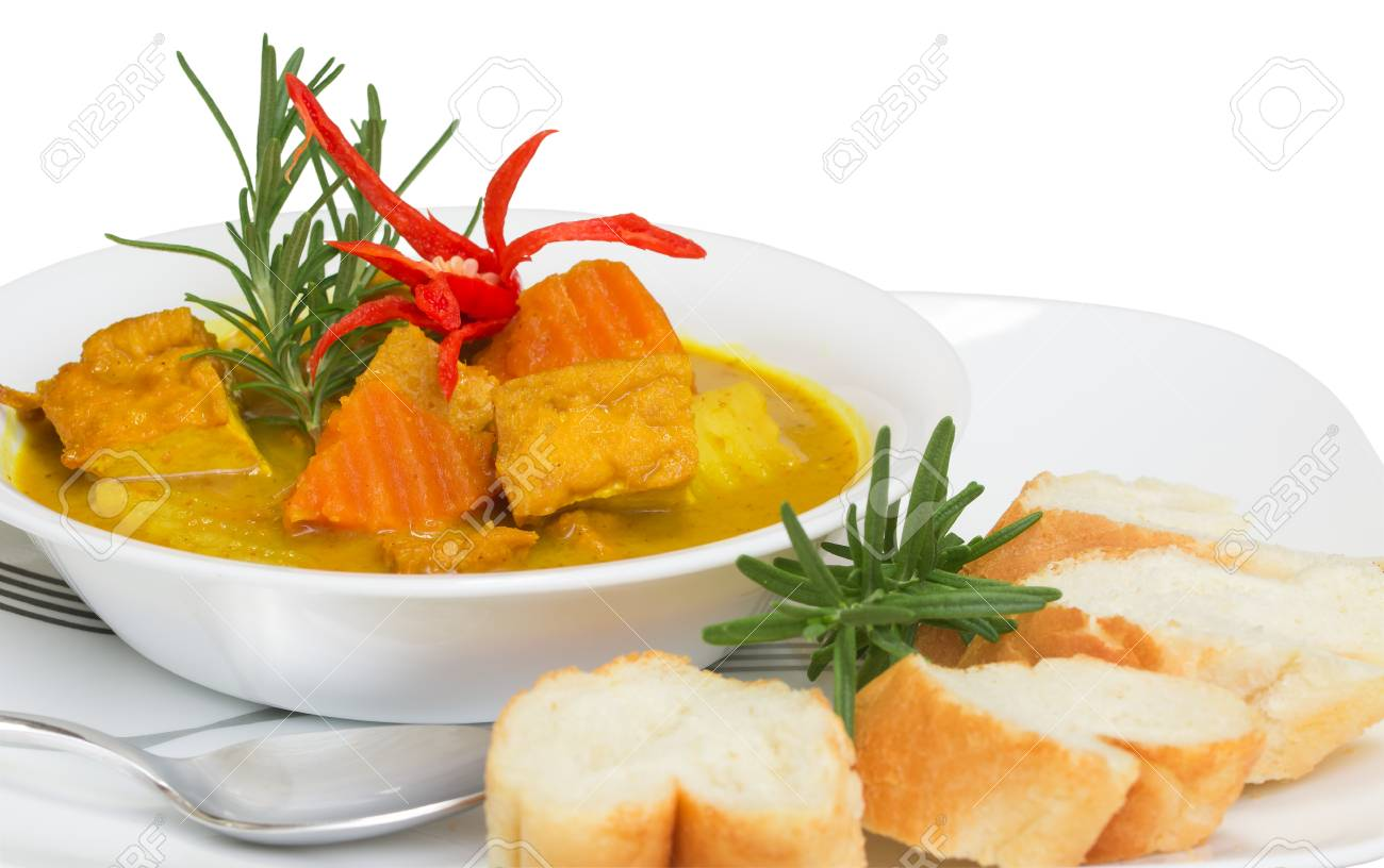 Delicious meatless tofu curry  A healthy and nutrition meal Stock Photo - 23116759