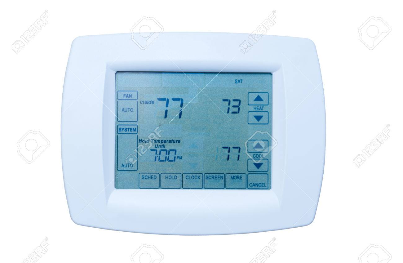 Programmable digital thermostat at energy efficiency optimal