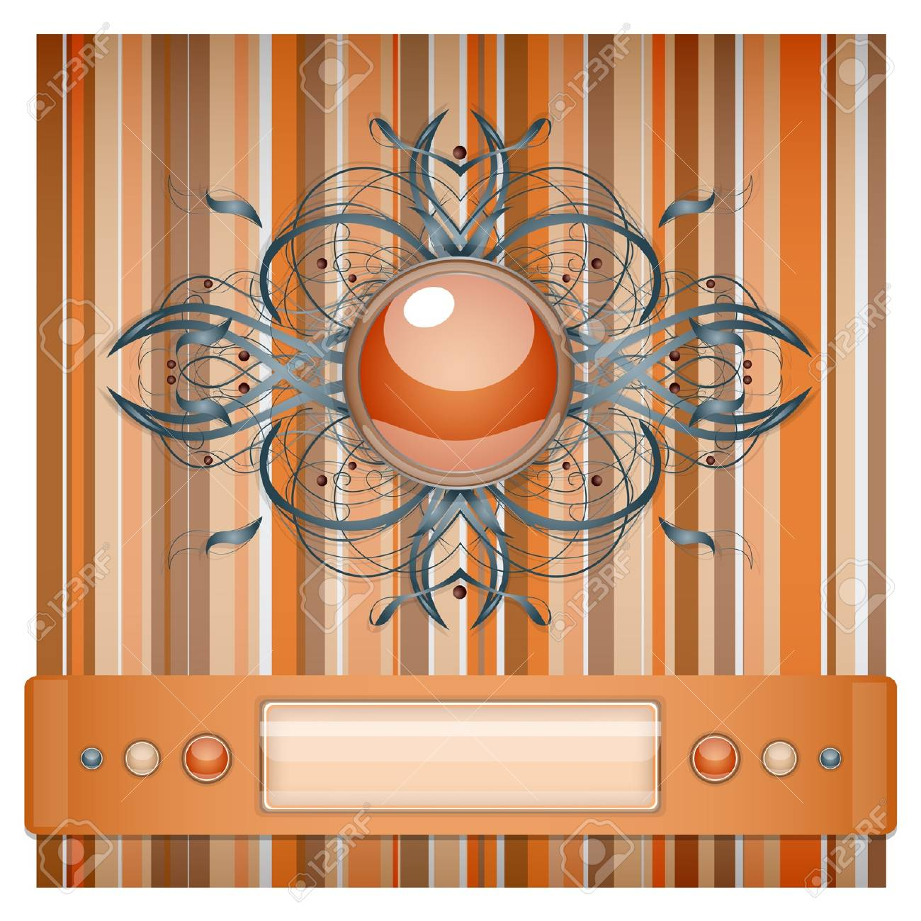 Orange - gray background with pattern. Illustration 10 version Stock Vector - 17691194
