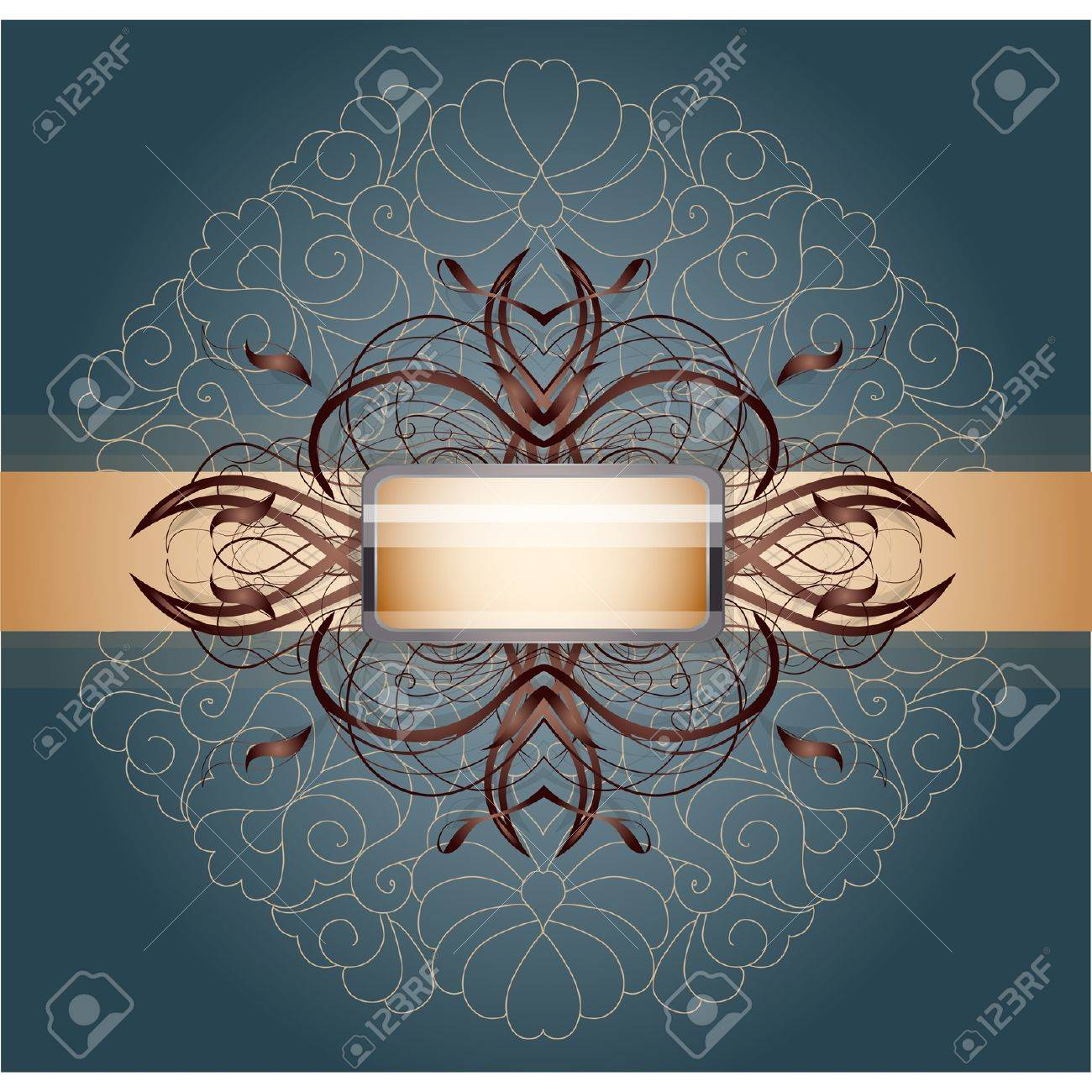 Retro background with ornament. Illustration 10 version Stock Vector - 17695659